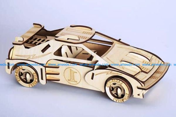Formula 1 racing assembly model file cdr and dxf free vector download for Laser cut CNC