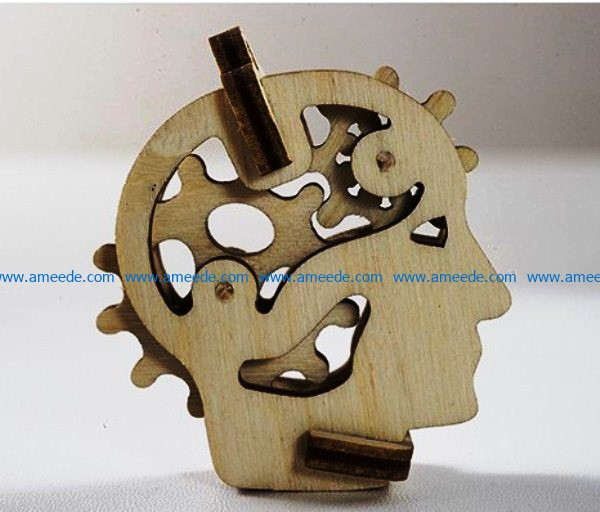 Gear head file cdr and dxf free vector download for Laser cut CNC