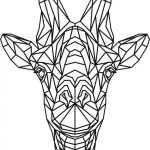 Giraffe head 3d murals file cdr and dxf free vector download for Laser cut Plasma file Decal