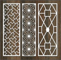 Glass frame column pattern file cdr and dxf free vector download for Laser cut CNC