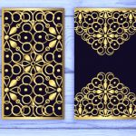 Golden Invitation card file cdr and dxf free vector download for Laser
