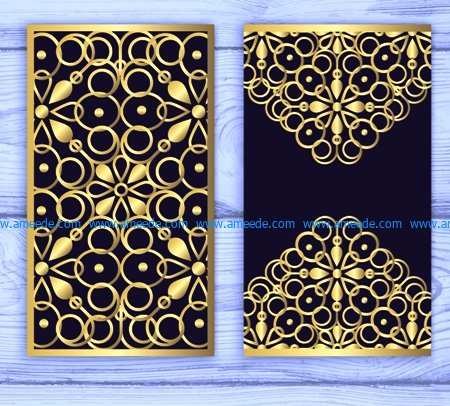 Golden Invitation Card File Cdr And Dxf Free Vector Download