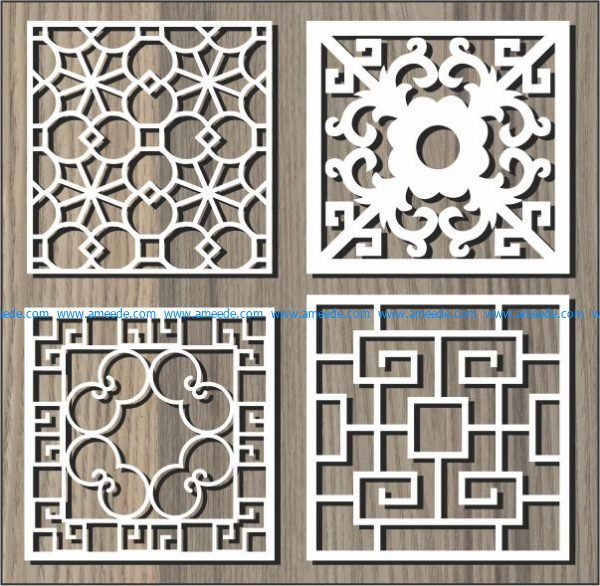 Graphic vector squares file cdr and dxf free vector download for Laser cut CNC