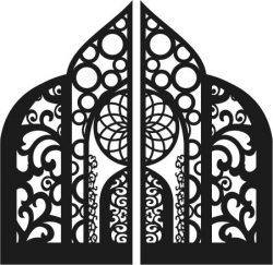 Great church gate file cdr and dxf free vector download