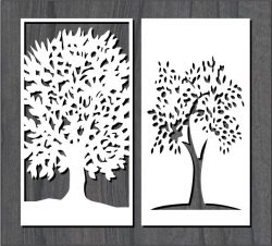 Great tree pattern file cdr and dxf free vector download for Laser cut CNC