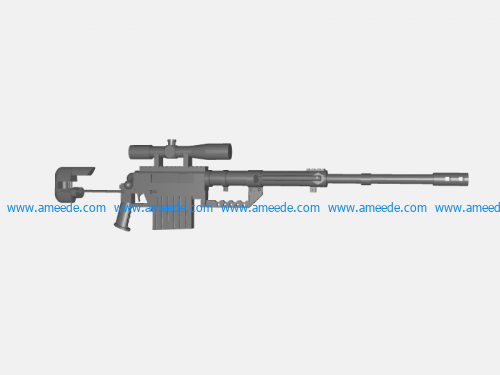 Gun SRR-61 file stl and mtl obj vector free 3d model download for CNC or 3d print