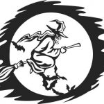 Halloween witch and broom file cdr and dxf free vector download for Laser cut Plasma file Decal