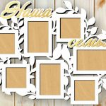 Hawa Family photo frame file cdr and dxf free vector download for Laser cut CNC