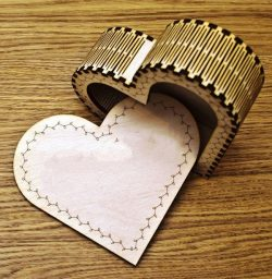 Heart Trinket Box  file cdr and dxf free vector download for Laser cut CNC