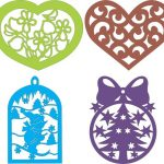 Heart shaped hanging on the tree file cdr and dxf free vector download for Laser cut CNC