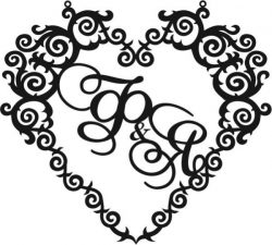 Heart wedding frame file cdr and dxf free vector download for Laser cut CNC