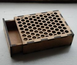 Honeycomb hole box model file cdr and dxf free vector download for Laser cut CNC