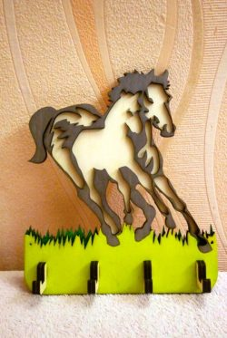Horse hanger file cdr and dxf free vector download for Laser cut