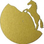 Horse-shaped wall clock file cdr and dxf free vector download for Laser cut plasma