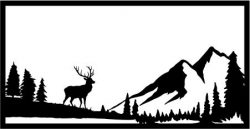 Independent deer in the forest  file cdr and dxf free vector download for Laser cut plasma