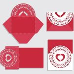 Invitation Red Love file cdr and dxf free vector download for Laser
