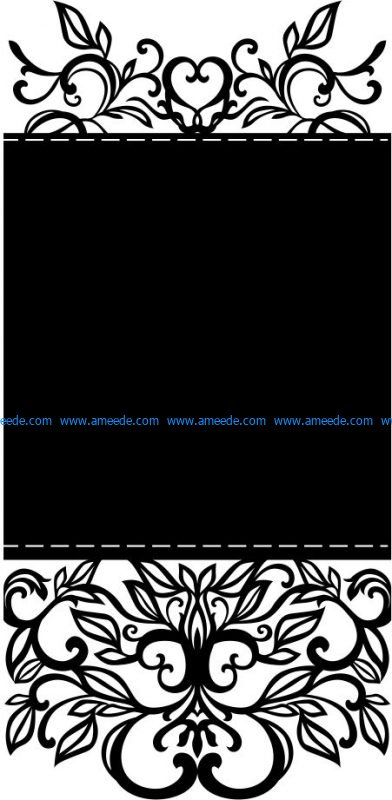 Invitation Retro send file cdr and dxf free vector download for Laser cut