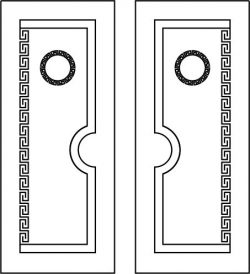 Islamic door design file cdr and dxf free vector download for CNC cut