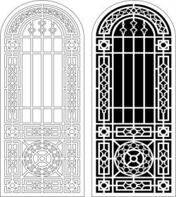 Islamic style arch door  file cdr and dxf free vector download for Laser cut CNC