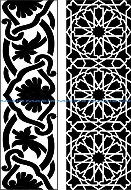 Islamic style wood cutting mdf texture file cdr and dxf free vector download for CNC cut