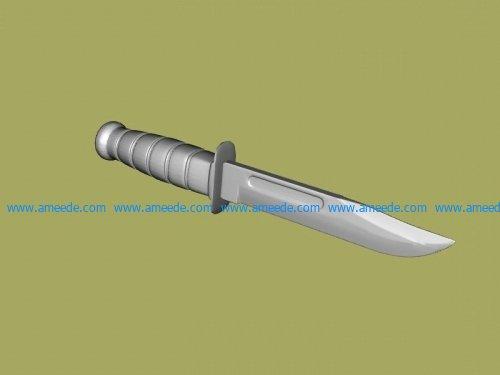 Knife file stl and mtl obj vector free 3d model download for CNC or 3d print