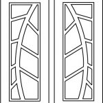 Leaf texture door file cdr and dxf free vector download for CNC cut