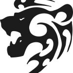 Lion head symbol file cdr and dxf free vector download for print or laser