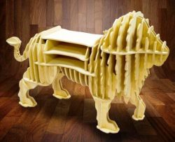 Lion shelf file cdr and dxf free vector download for Laser cut CNC