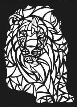 Lions motifs lion file cdr and dxf free vector download for Laser cut CNC