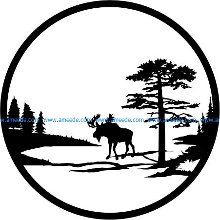 Lonely elk file cdr and dxf free vector download for Laser cut plasma