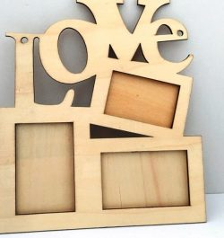Love photo frames file cdr and dxf free vector download for Laser cut CNC