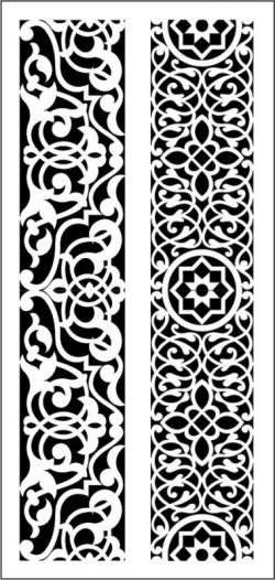 MDF texture with Arabic style file cdr and dxf free vector download for CNC cut