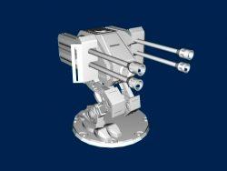 Machine gun file stl and mtl obj vector free 3d model download for CNC or 3d print