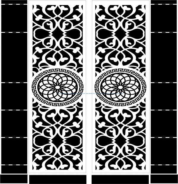 Mandala motifs door file cdr and dxf free vector download for CNC cut