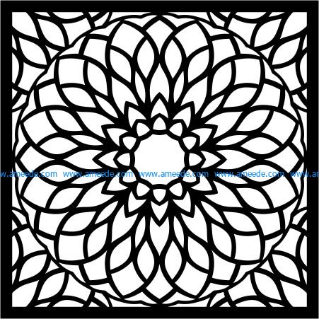 Manlada decorative motifs file cdr and dxf free vector download for Laser cut Plasma file Decal