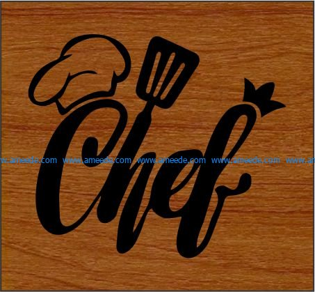 Masterchef file cdr and dxf free vector download for print or laser engraving machines