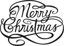 Merry christmas file cdr and dxf free vector download for print or laser engraving machines