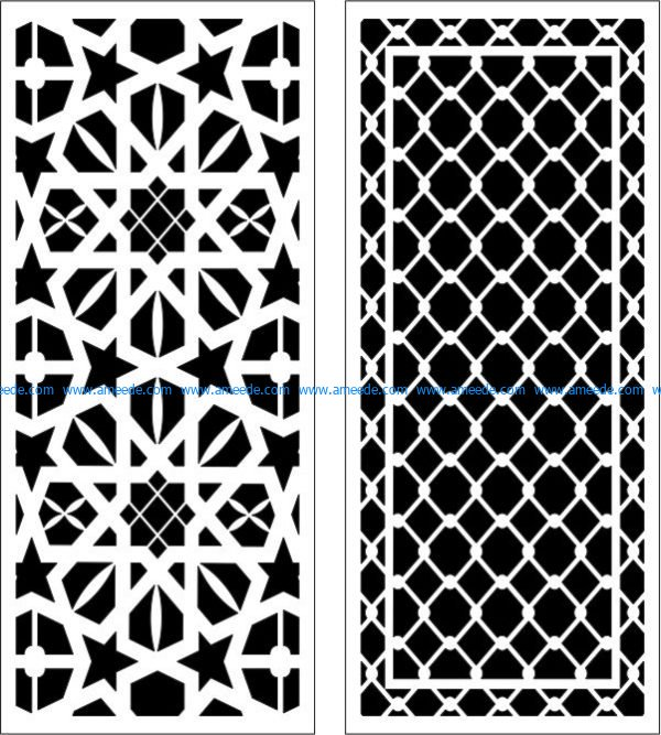 Mesh partition file cdr and dxf free vector download for Laser cut CNC