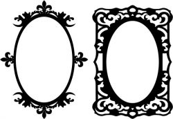 Mirror frame is rectangular and oval file cdr and dxf free vector download for CNC cut