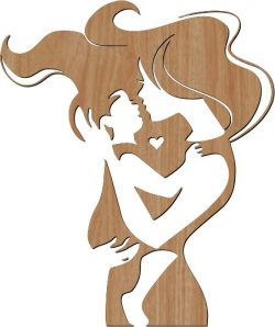 Mom and baby love symbol file cdr and dxf free vector download for print or laser engraving machines
