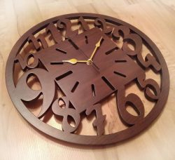 Natural wooden wall clock file cdr and dxf free vector download for Laser cut Plasma