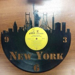 New York clock file cdr and dxf free vector download for Laser cut plasma