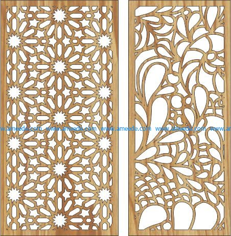 New modern bulkhead file cdr and dxf free vector download for Laser cut CNC