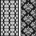 Ottoman Stencils file cdr and dxf free vector download for Laser cut CNC