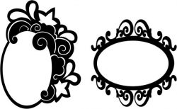 Oval mirror frame file cdr and dxf free vector download for CNC cut