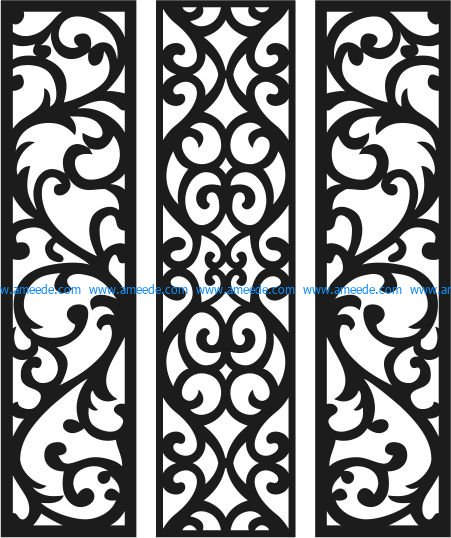 Panel Seamless Theme file cdr and dxf free vector download for Laser cut CNC