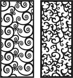 Panel Seamless file cdr and dxf free vector download for Laser cut CNC