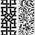Partition of leaf motifs and interwoven file cdr and dxf free vector download for Laser cut CNC