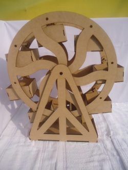 Pastry shelf shaped like a ferris wheel free download vector for CNC Laser Cutting