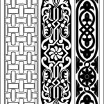 Pattern of intertwined motifs   file cdr and dxf free vector download for CNC cut